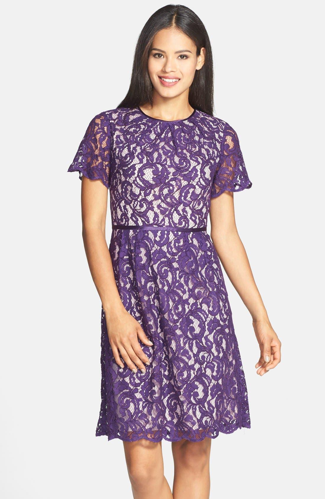 ,                             Scalloped Lace Dress,                             Main thumbnail 10, color,                             521