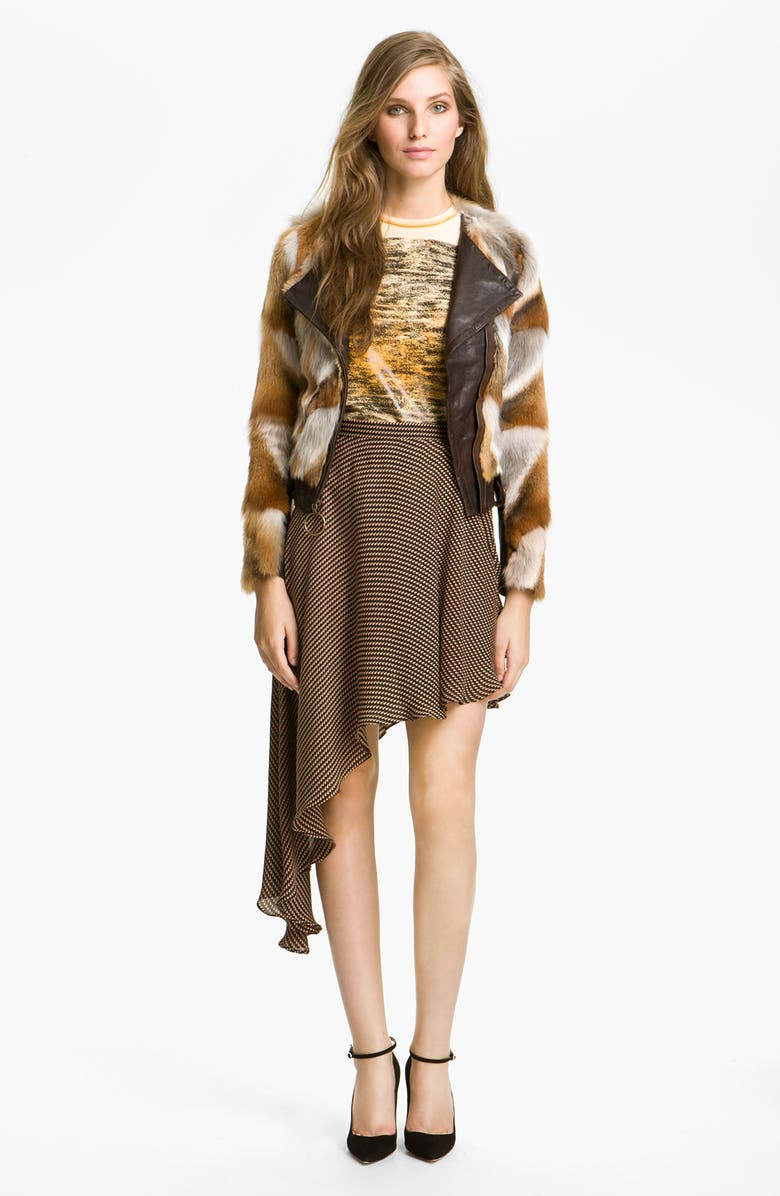 KELLY WEARSTLER 'Winston' Genuine Fox Fur Jacket, Main, color, 200