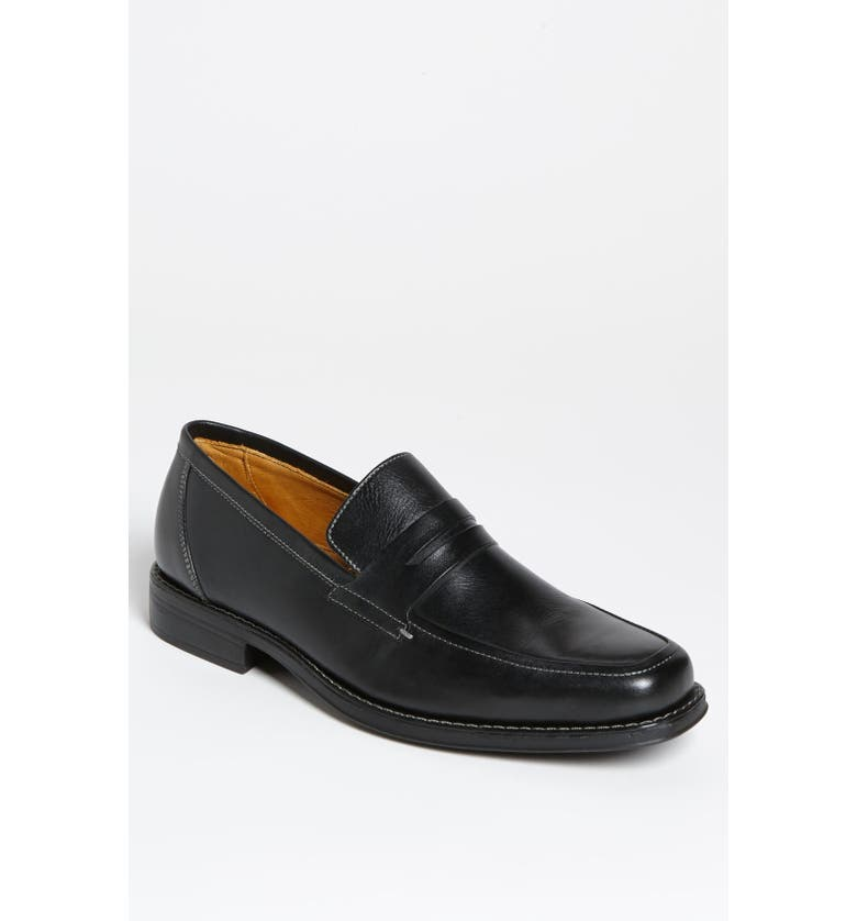 SANDRO MOSCOLONI 'Stuart' Penny Loafer, Main, color, BLACK