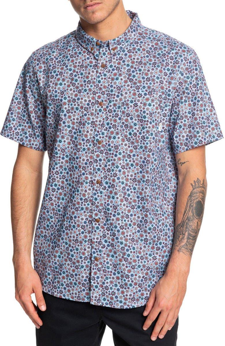 QUIKSILVER Ditsy Dreamer Floral Print Shirt, Main, color, 455