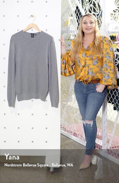 Bospan Textured Crewneck Sweater, sales video thumbnail