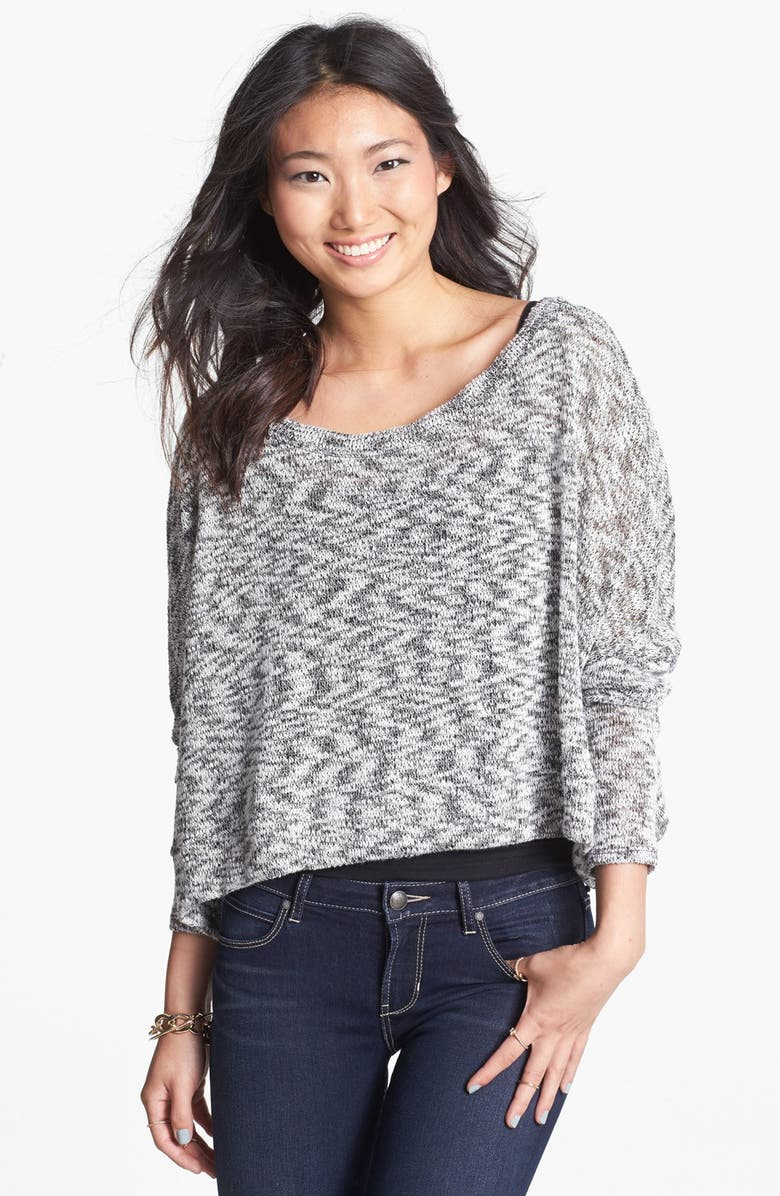 PAINTED THREADS Sweater, Main, color, Black