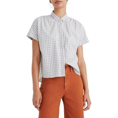 Madewell Hilltop Gingham Check Shirt, Ivory