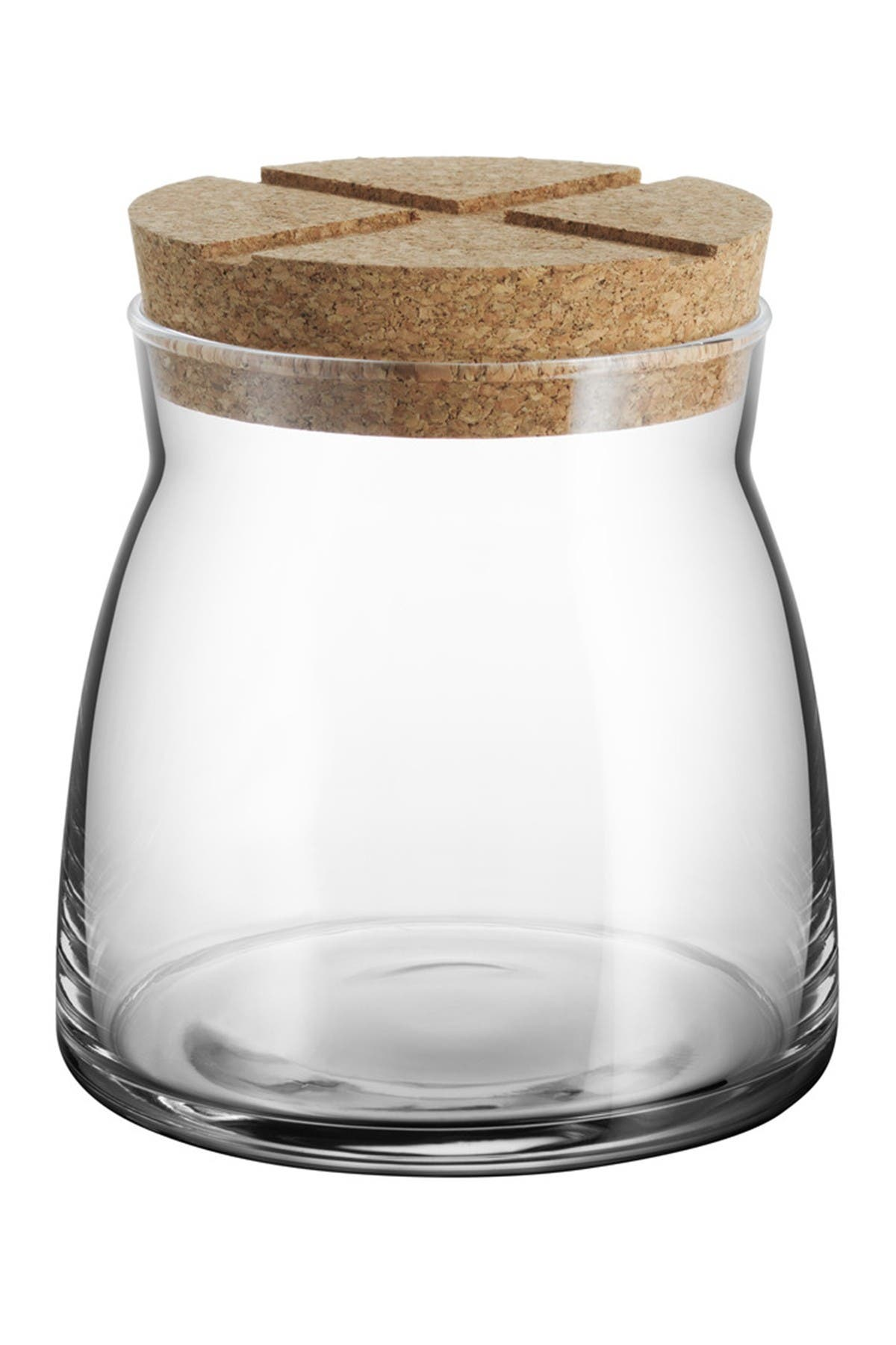 Image of Kosta Boda Bruk Storage Jar with Airtight Cork Lid - Clear