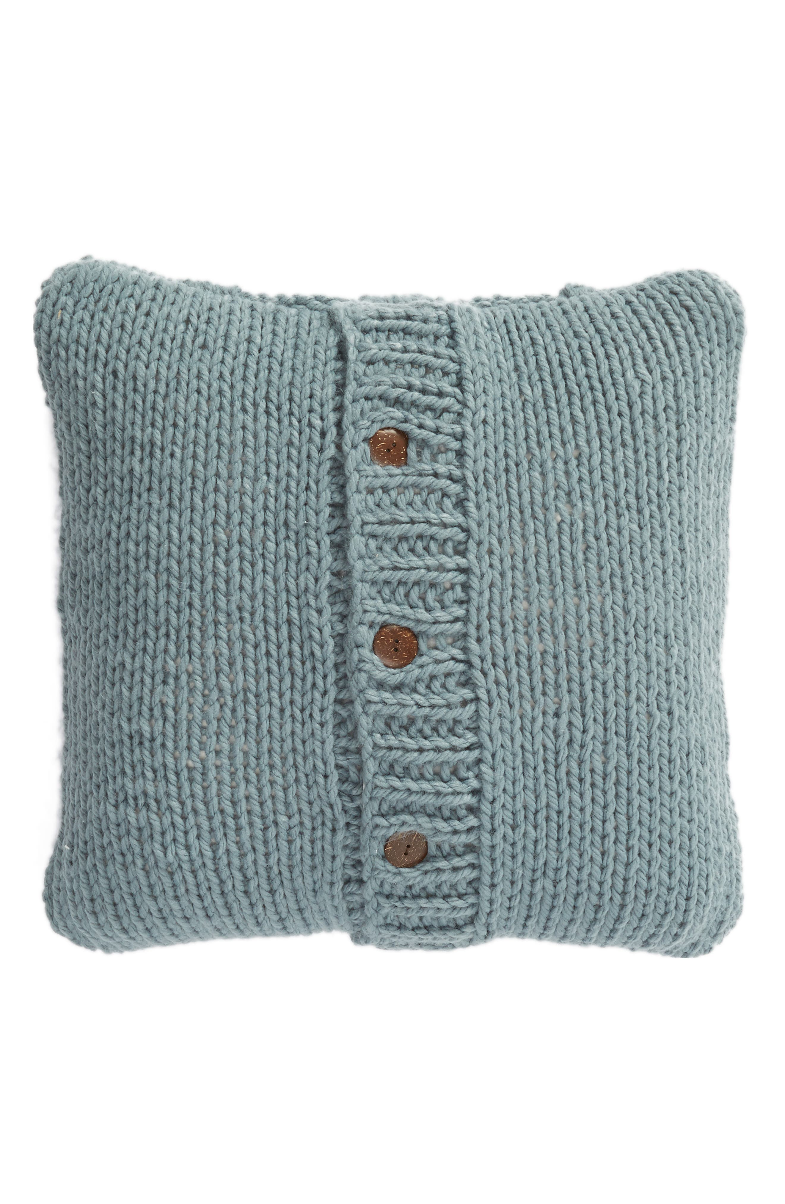 ,                             Cable Knit Accent Pillow,                             Alternate thumbnail 2, color,                             BLUE TROOPER
