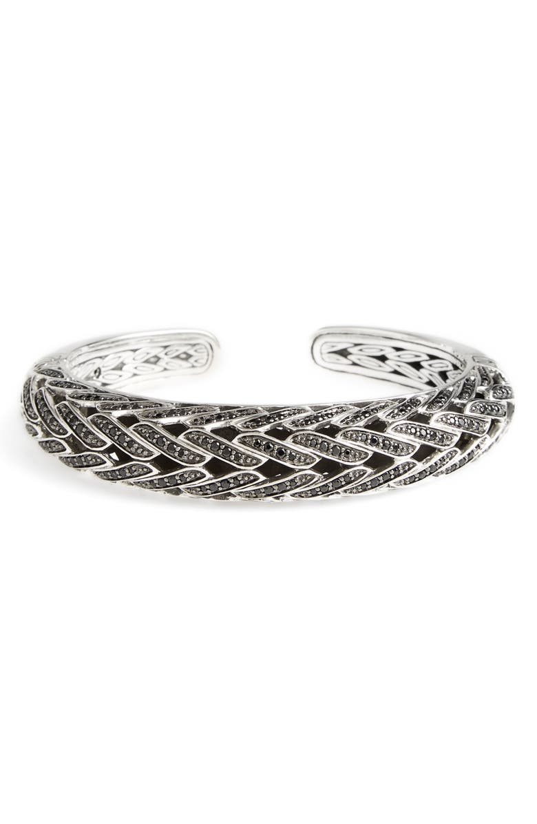 JOHN HARDY Classic Chain Spinel Bracelet, Main, color, SILVER/ BLACK SAPPHIRE