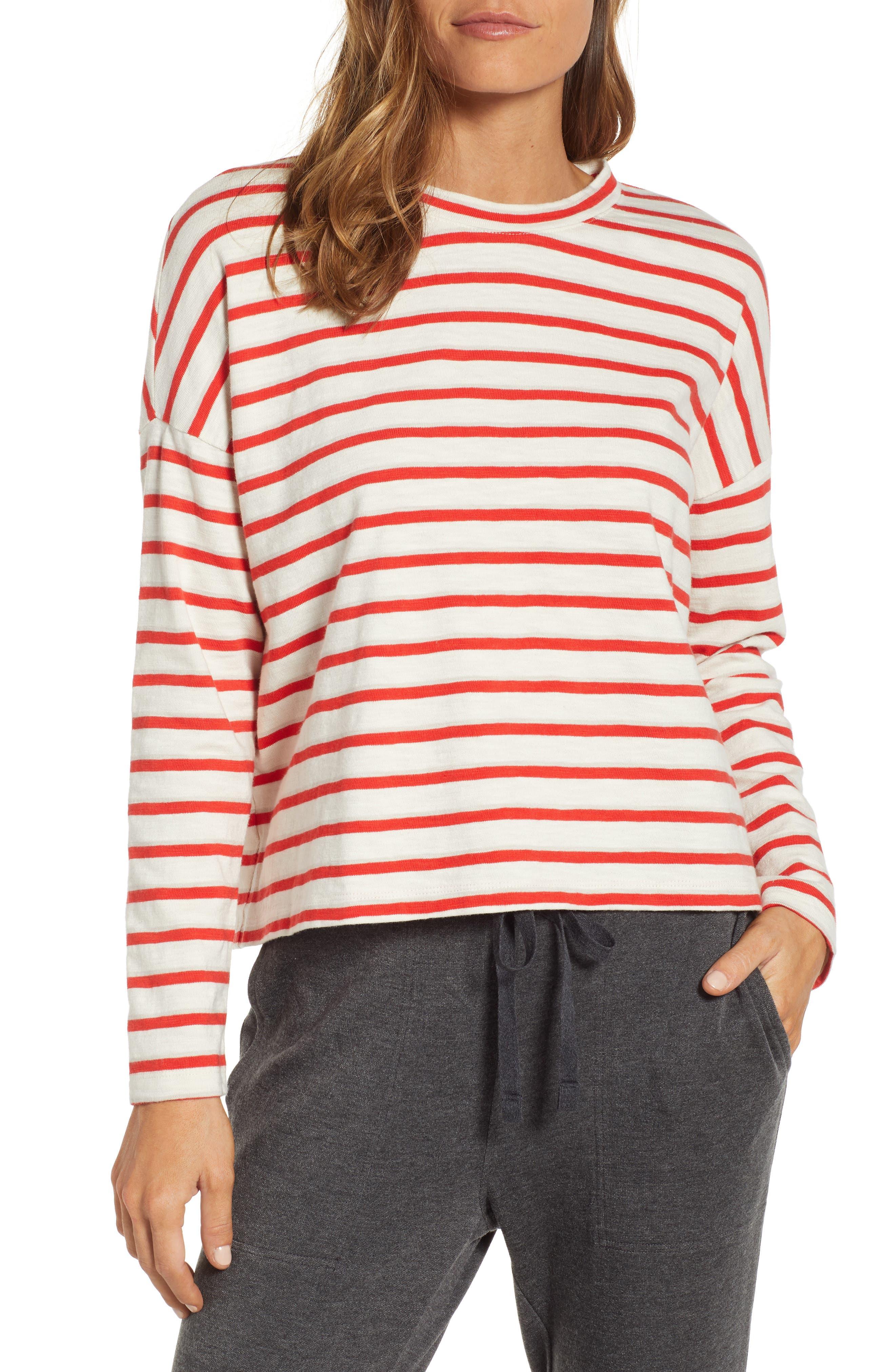 ,                             Bonnie Stripe Cotton Top,                             Main thumbnail 1, color,                             600