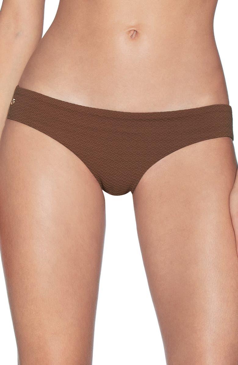 MAAJI Sublime Texture Signature Cut Reversible Bikini Bottoms, Main, color, COCONUT BROWN TEXTURE