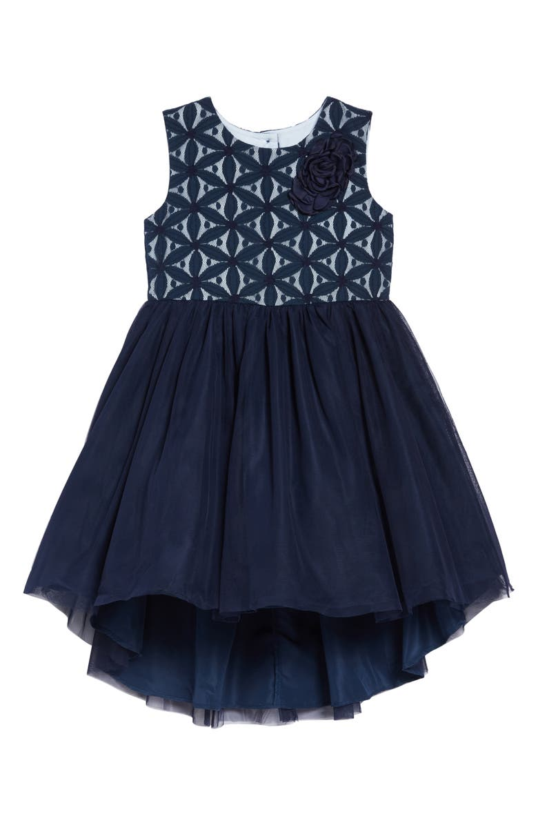 PIPPA & JULIE Embroidered Tutu Dress, Main, color, NAVY