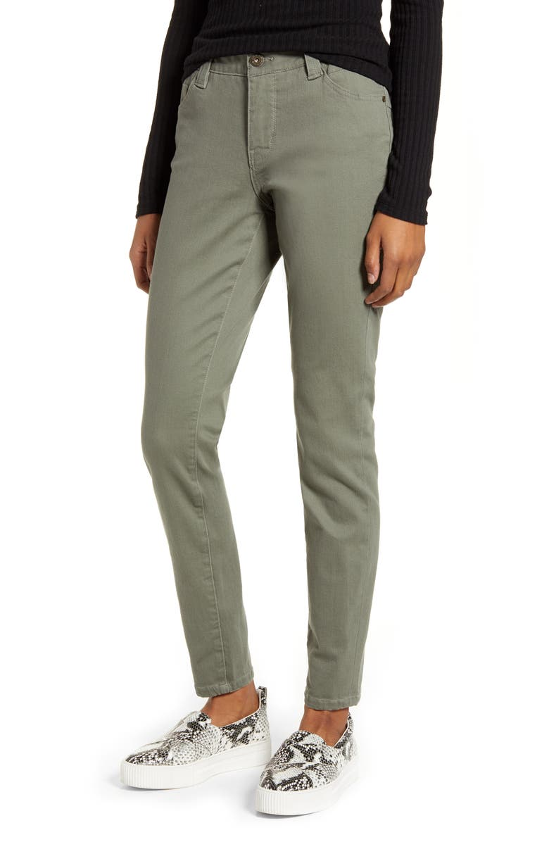 JAG JEANS Cecilia Skinny Jeans, Main, color, DUSTY OLIVE