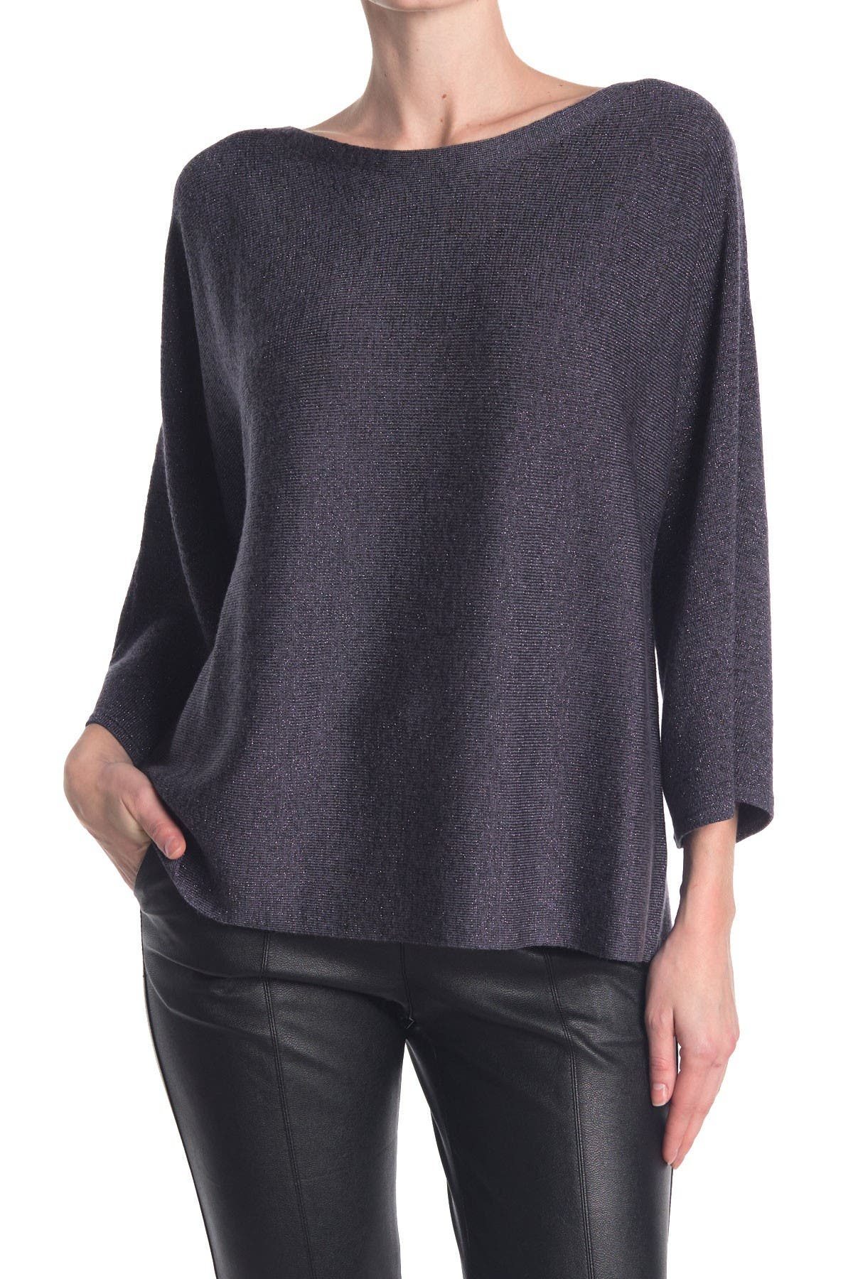 Image of Eileen Fisher Boatneck Wool Blend Top