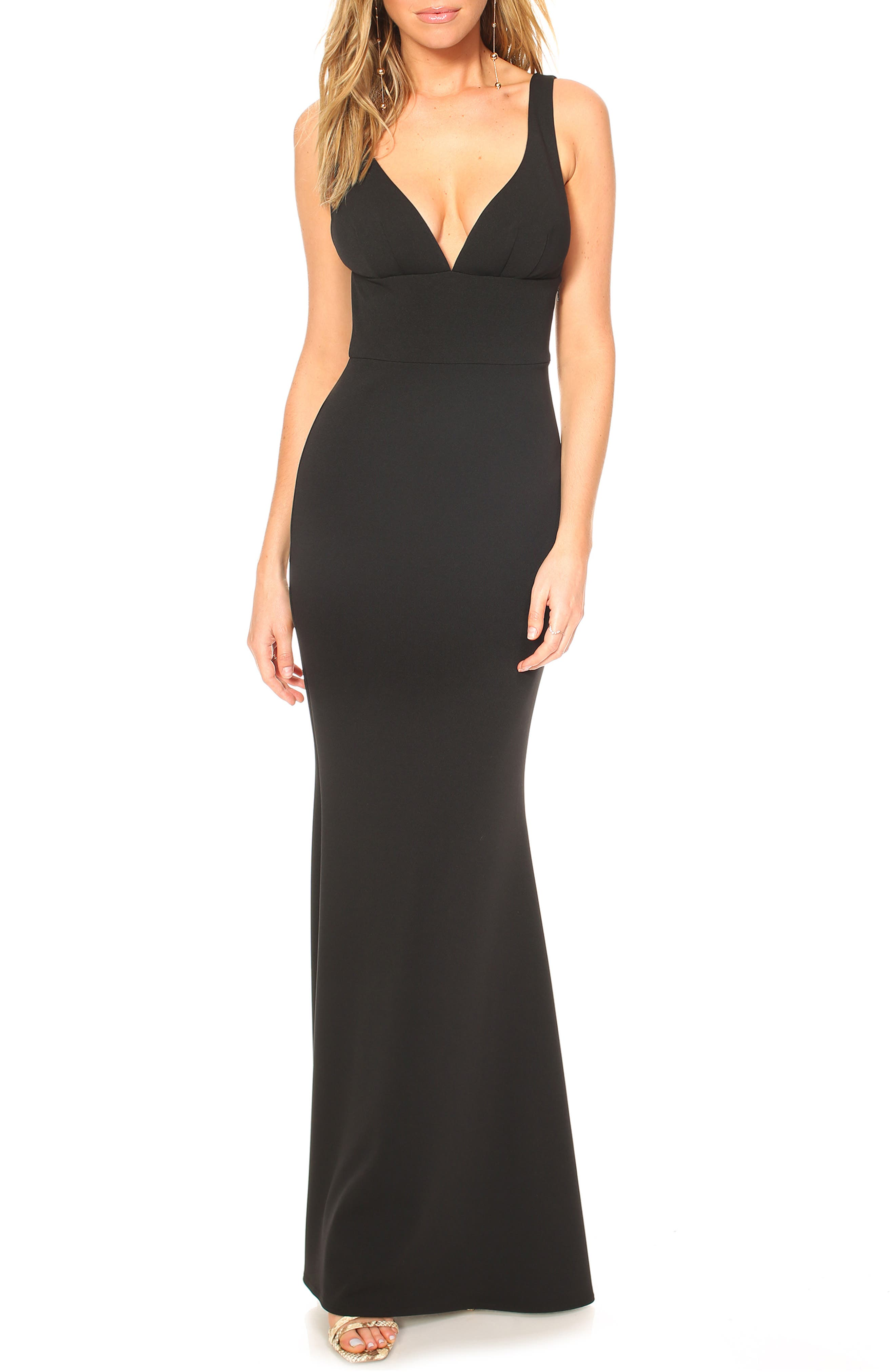 Katie May Helena V-Neck Trumpet Gown