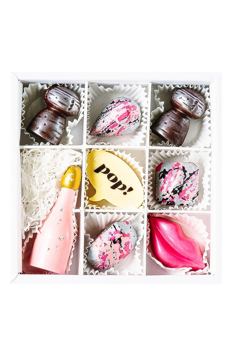 MAGGIE LOUISE CONFECTIONS Pop Champagne 8-Piece Chocolates, Main, color, 100