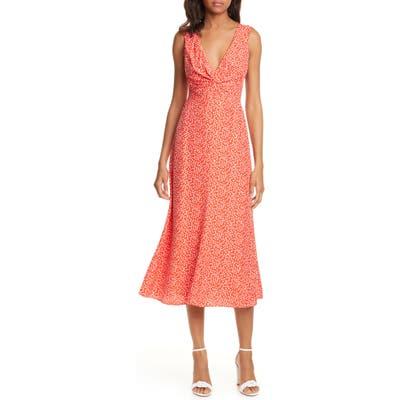 Rebecca Taylor Malia Twist Front Dress, Red