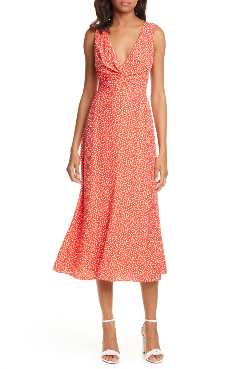 REBECCA TAYLOR Malia Twist Front Dress, Main, color, 615