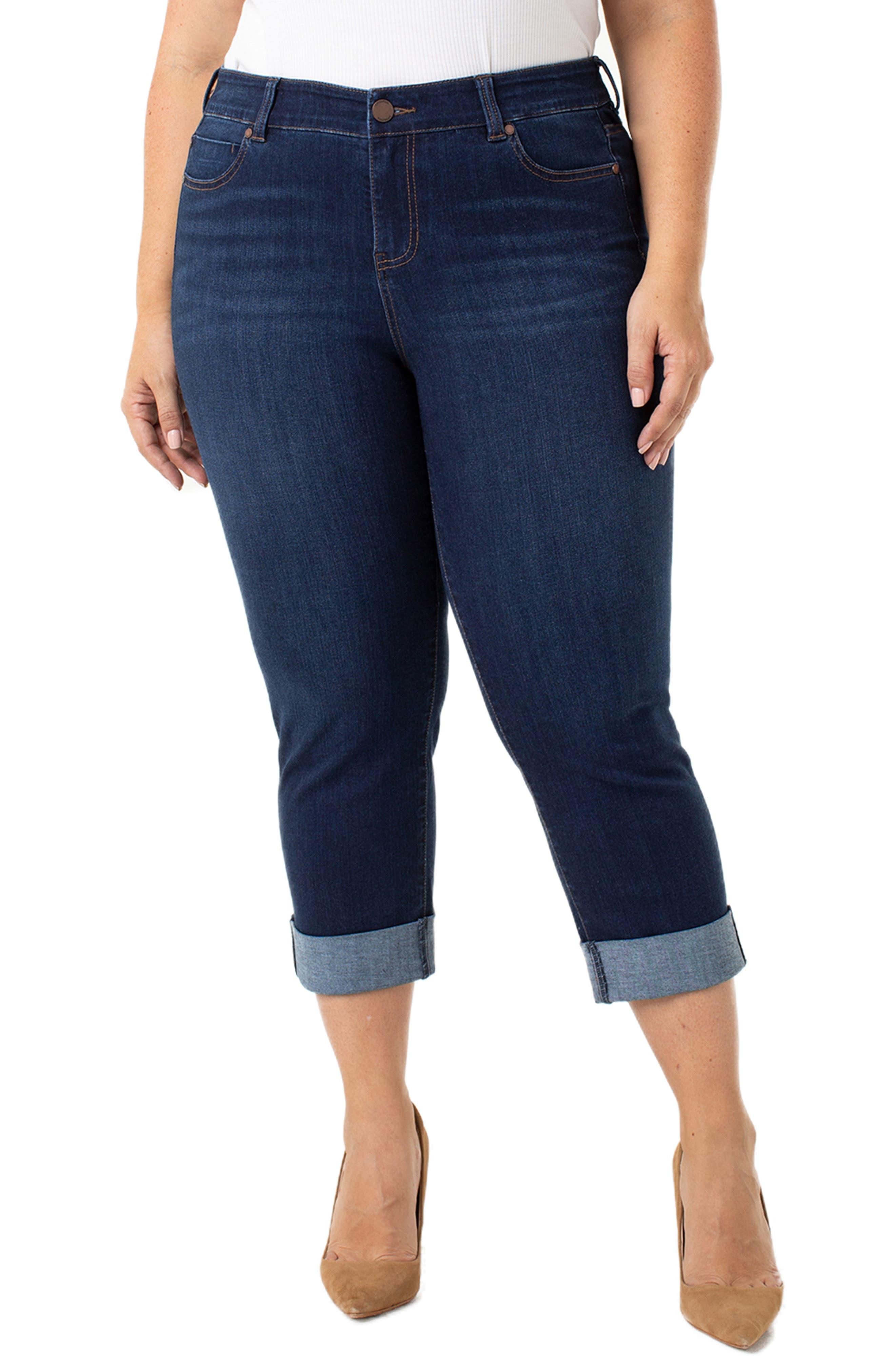 Charlie Wide Roll Cuff Crop Jeans