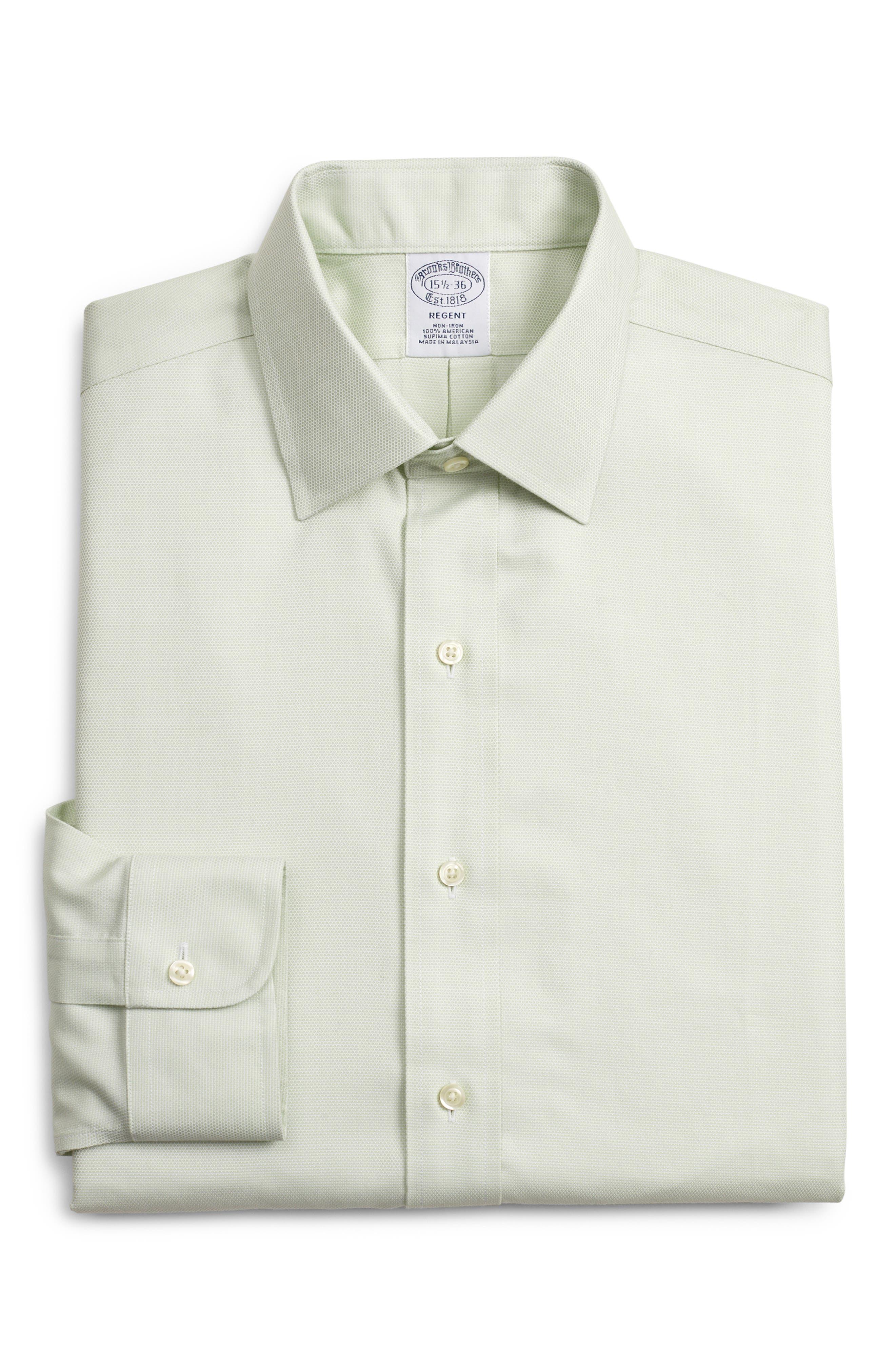 Brooks Brothers Regular Fit Print Dress Shirt