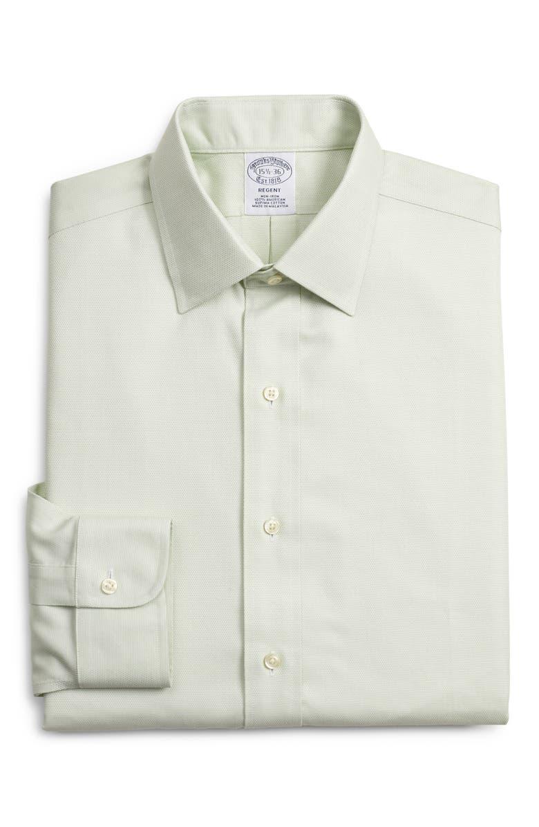 BROOKS BROTHERS Regular Fit Print Dress Shirt, Main, color, GREEN