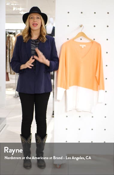 Colorblock Dolman Sleeve Sweater, sales video thumbnail