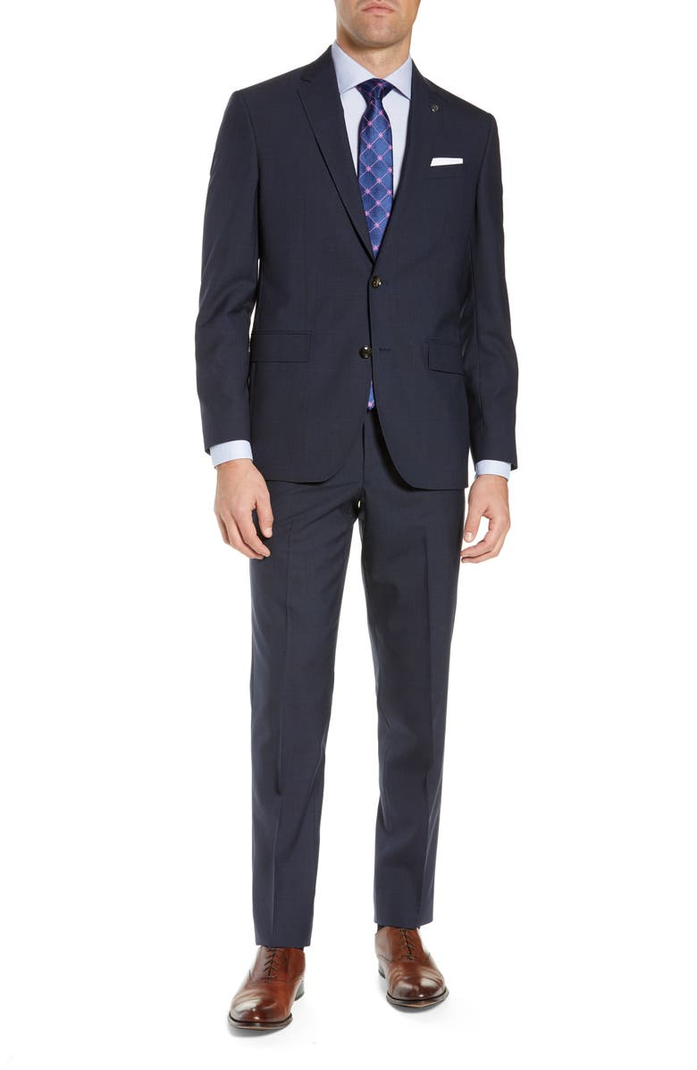 TED BAKER LONDON Jay Trim Fit Suit, Main, color, NAVY