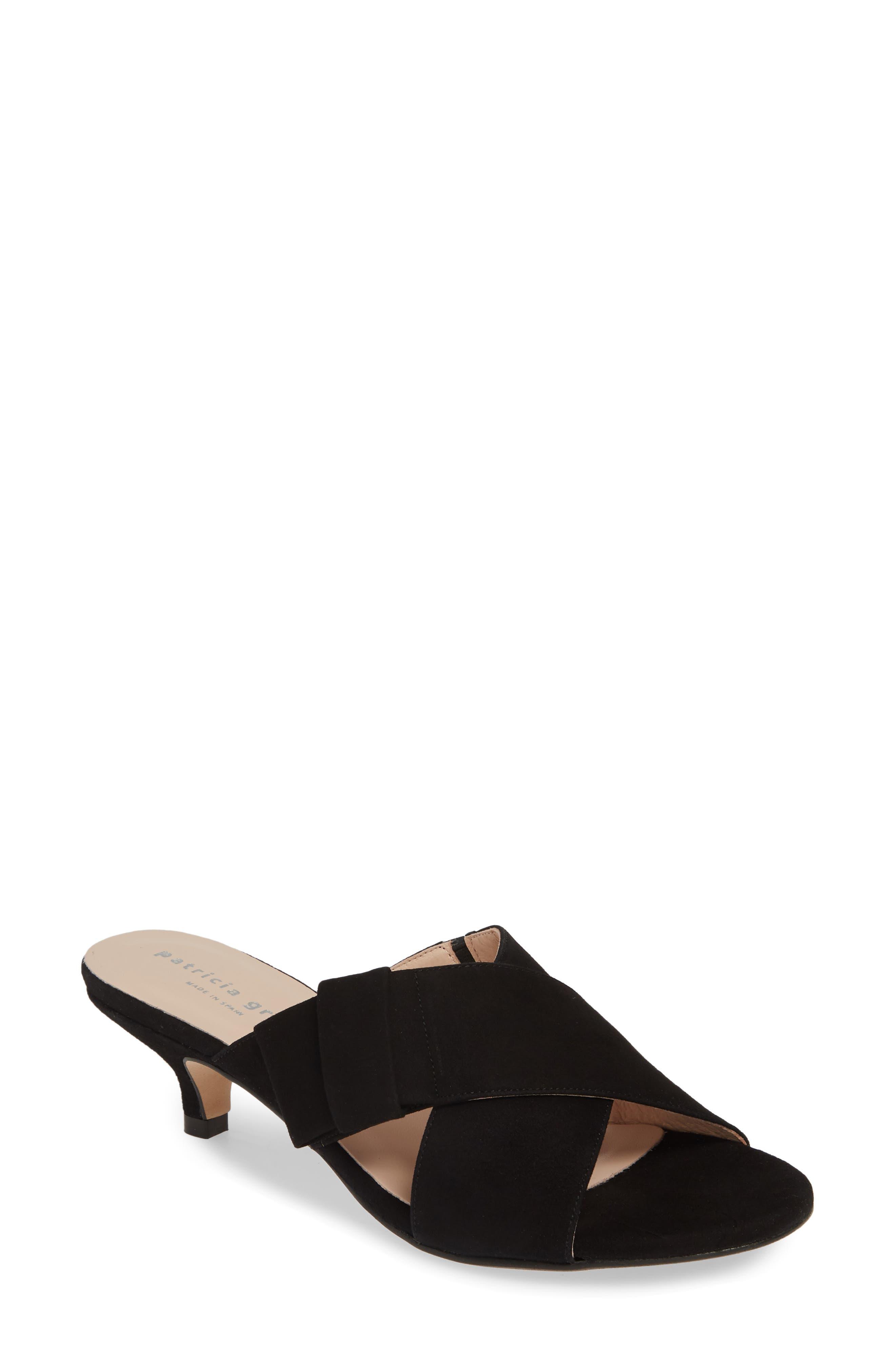 Patricia Green Origami Slide Sandal- Black