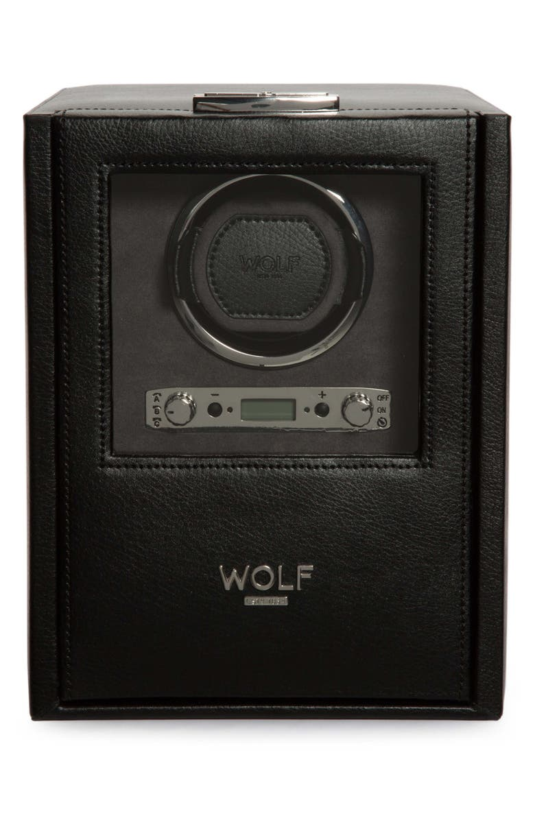WOLF Blake Single Watch Winder, Main, color, BLACK