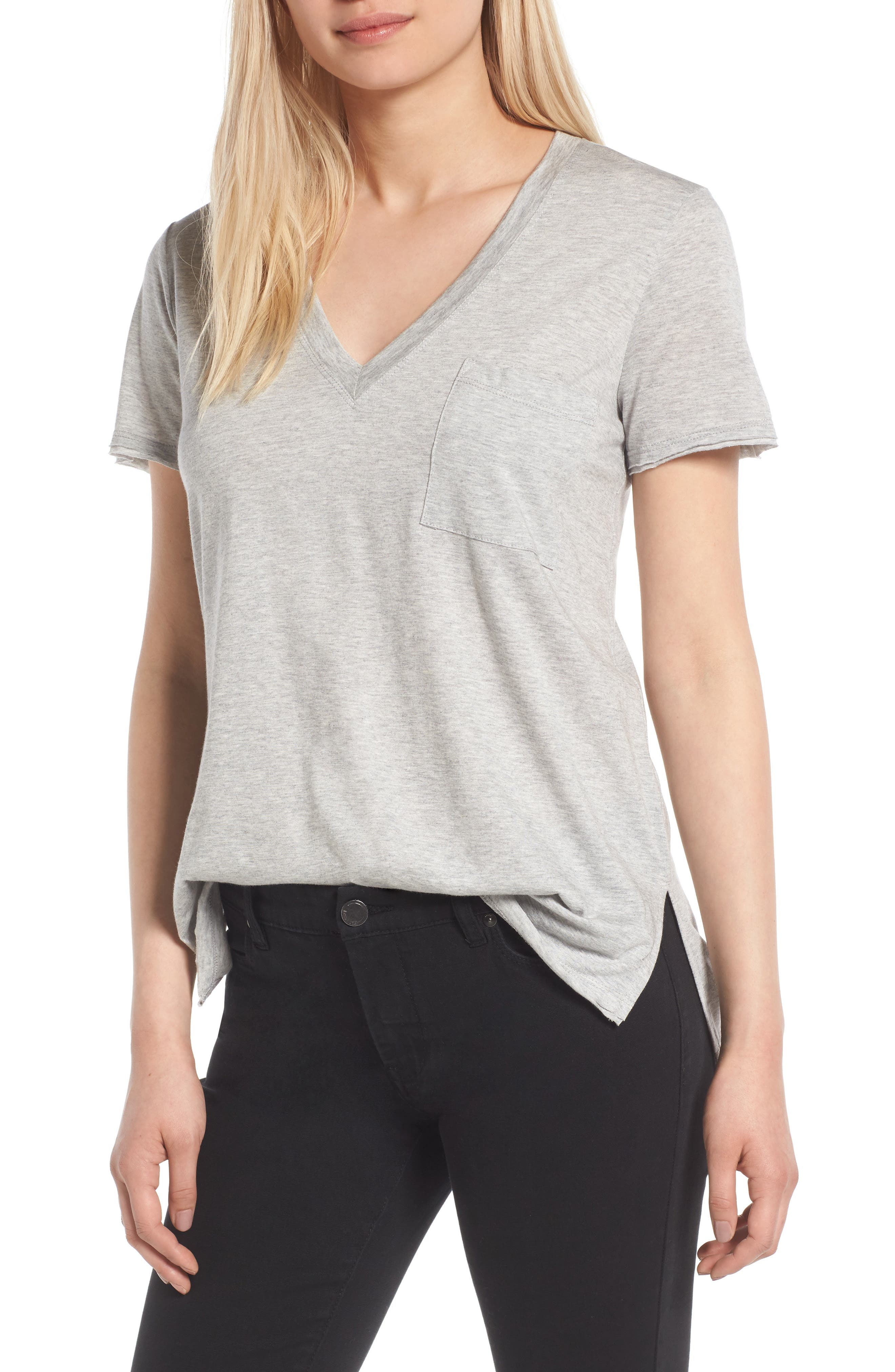 ,                             Raw Edge Side Slit Tee,                             Main thumbnail 25, color,                             035