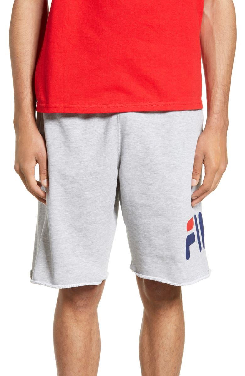 FILA George Athletic Shorts, Main, color, LIGHT GREY MARL