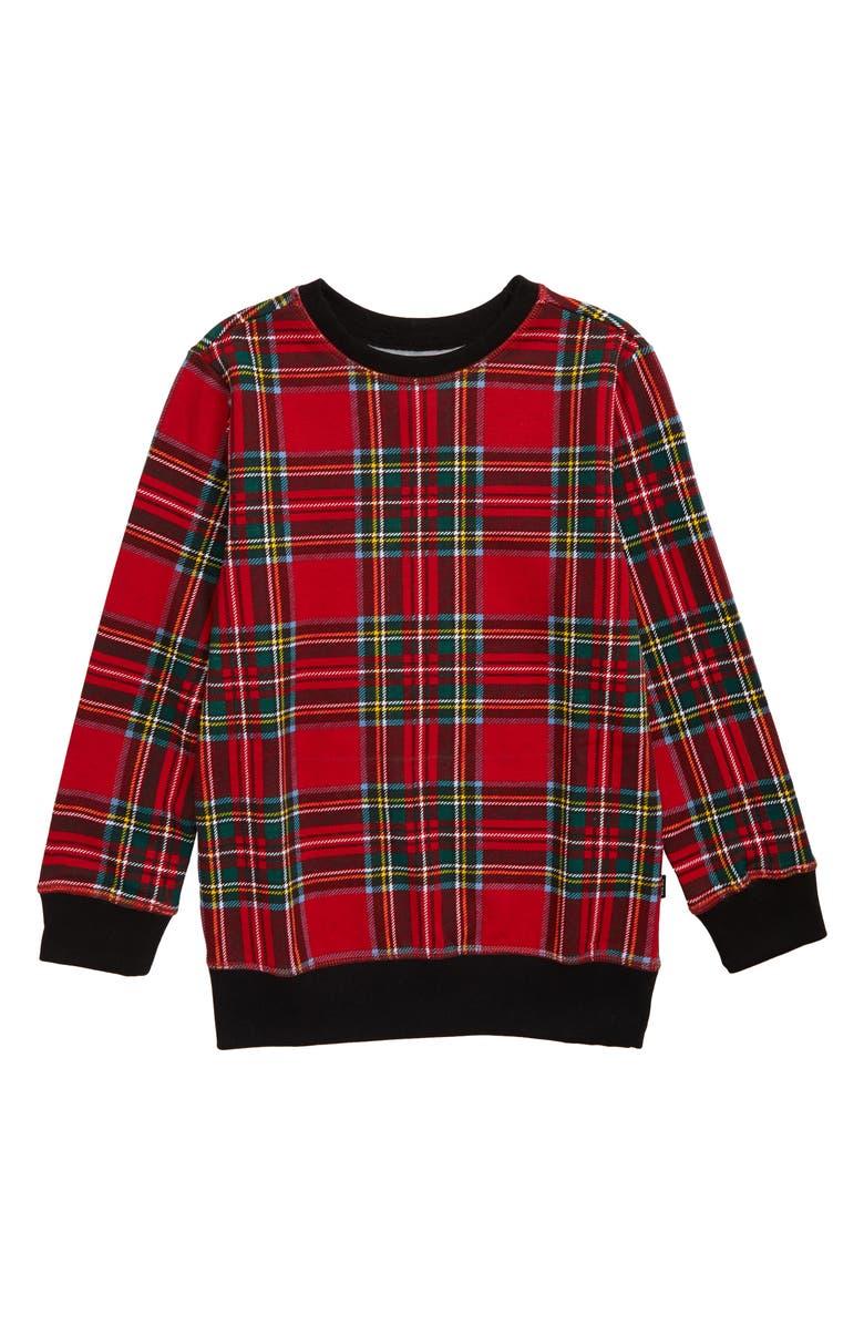 WESC Plaid Sweatshirt, Main, color, 610
