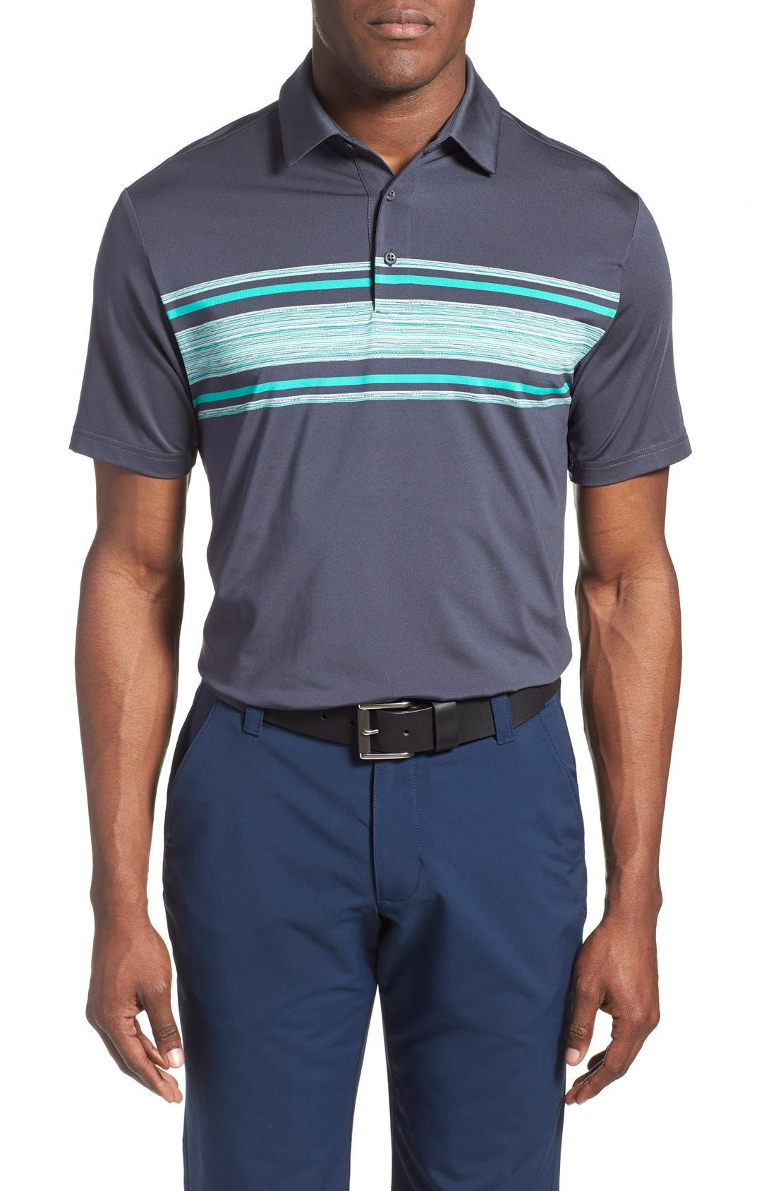 ,                             'Playoff' Loose Fit Short Sleeve Polo,                             Main thumbnail 115, color,                             012