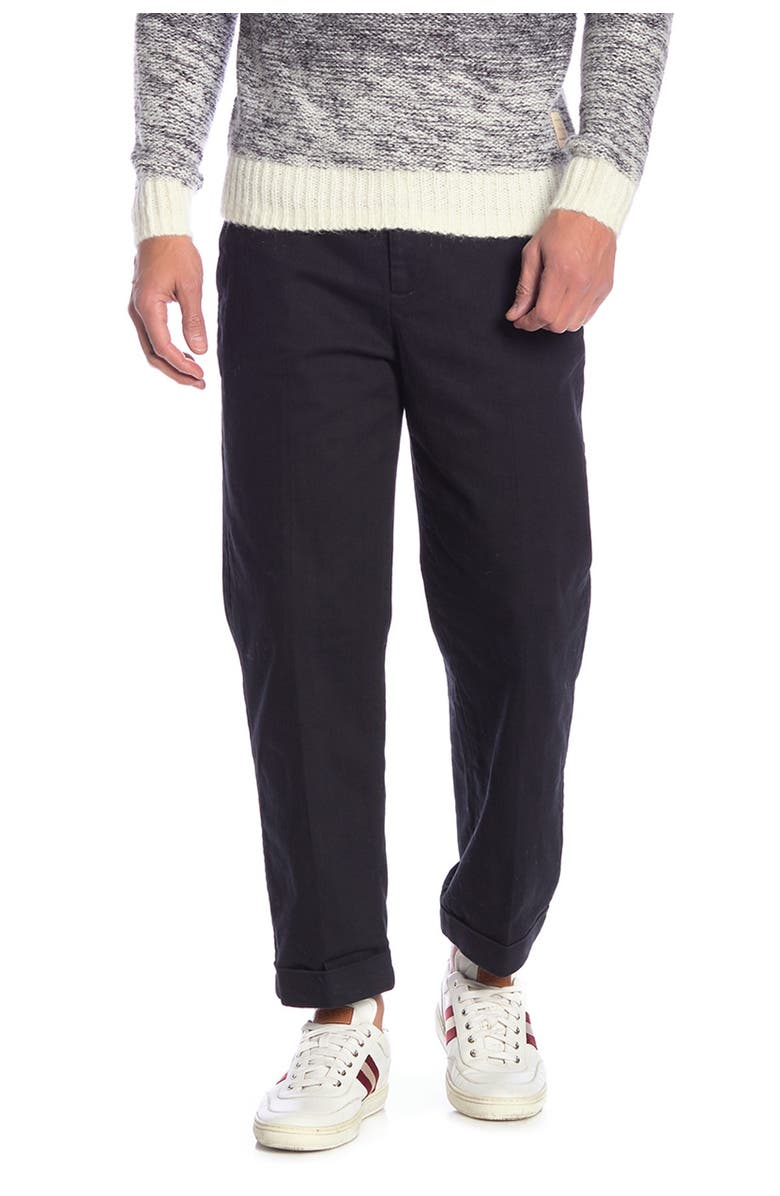 """SCOTCH AND SODA Harper Relaxed Chino Pants - 32-34"""" Inseam, Main, color, 0008-BLACK"""