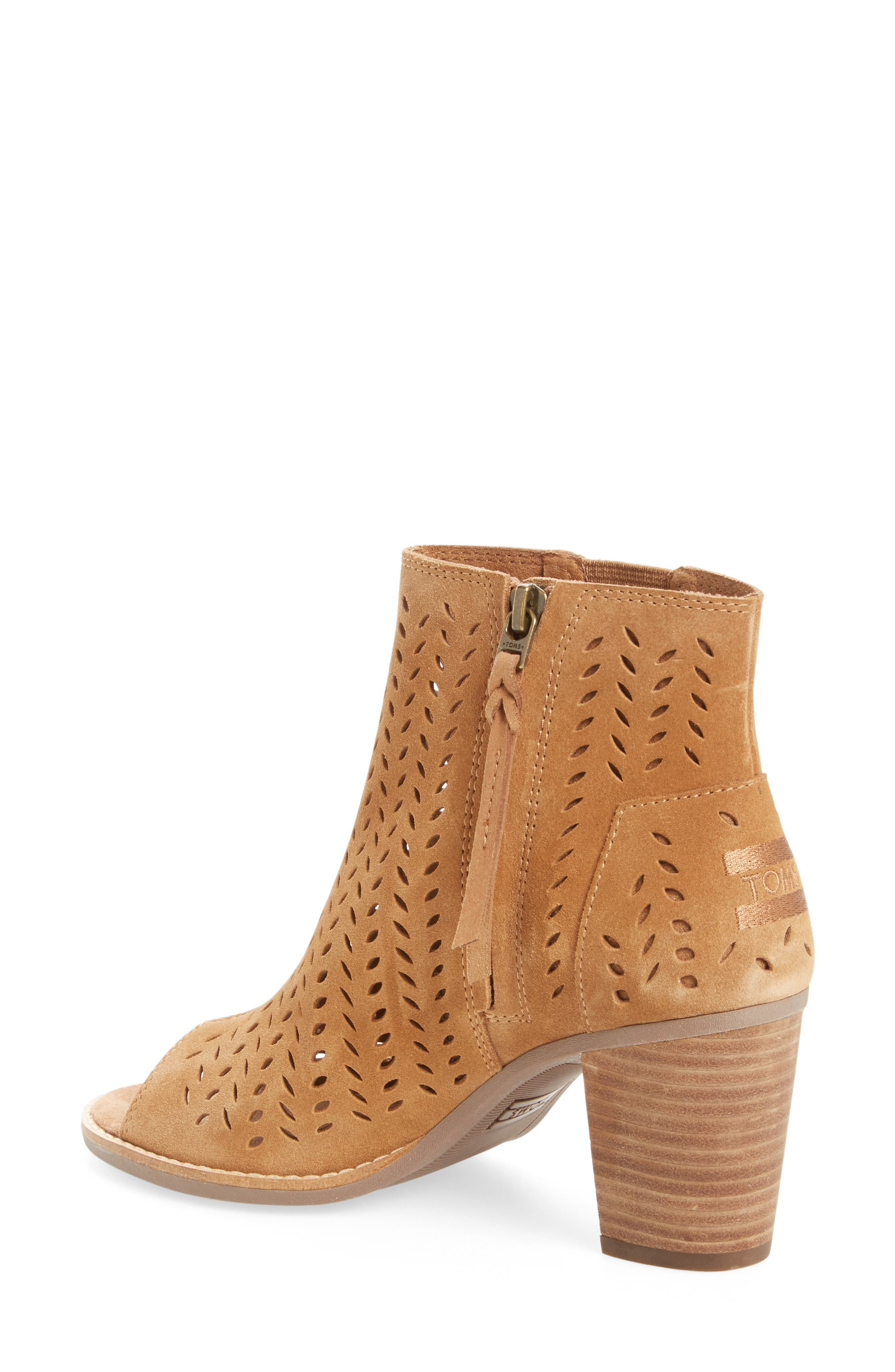 ,                             Majorca Perforated Suede Bootie,                             Alternate thumbnail 10, color,                             210