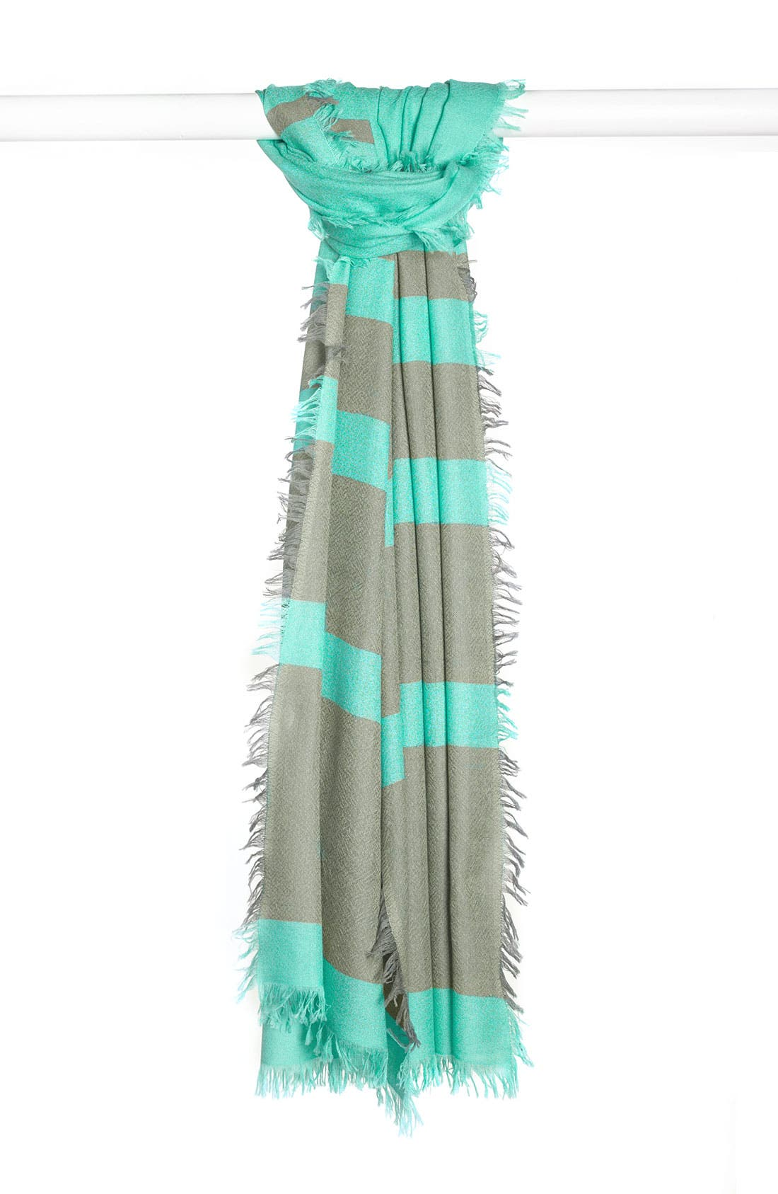 ,                             'Eyelash' Colorblock Cashmere Wrap,                             Main thumbnail 45, color,                             440
