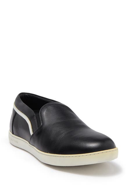 Image of Sergio Rossi Leather Slip-On Sneaker