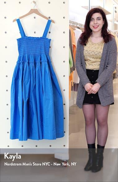 Kayla Shirred Taffeta Midi Dress, sales video thumbnail