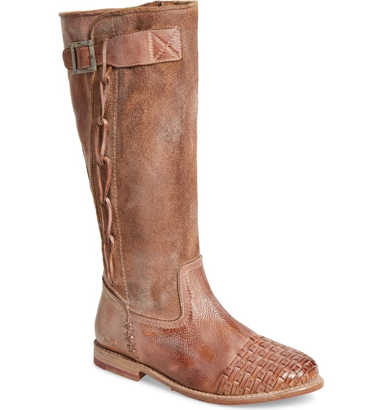 BED STU Endless Knee High Boot, Main, color, TAN WHITE