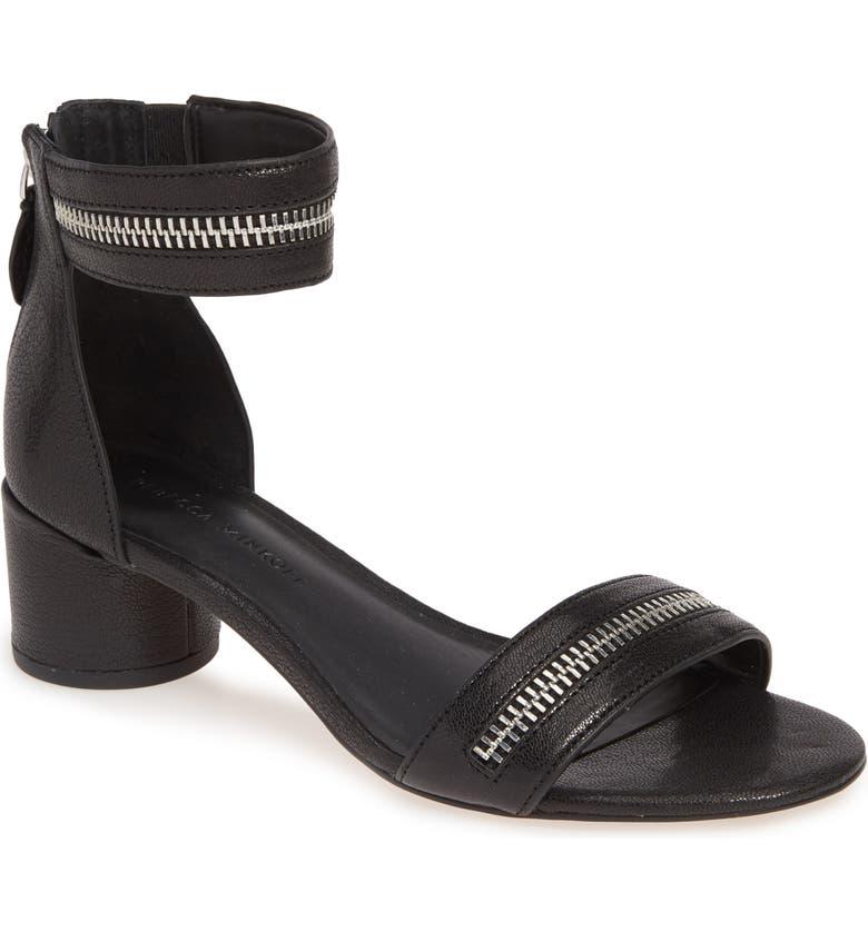 REBECCA MINKOFF Ortenne Ankle Strap Sandal, Main, color, 001
