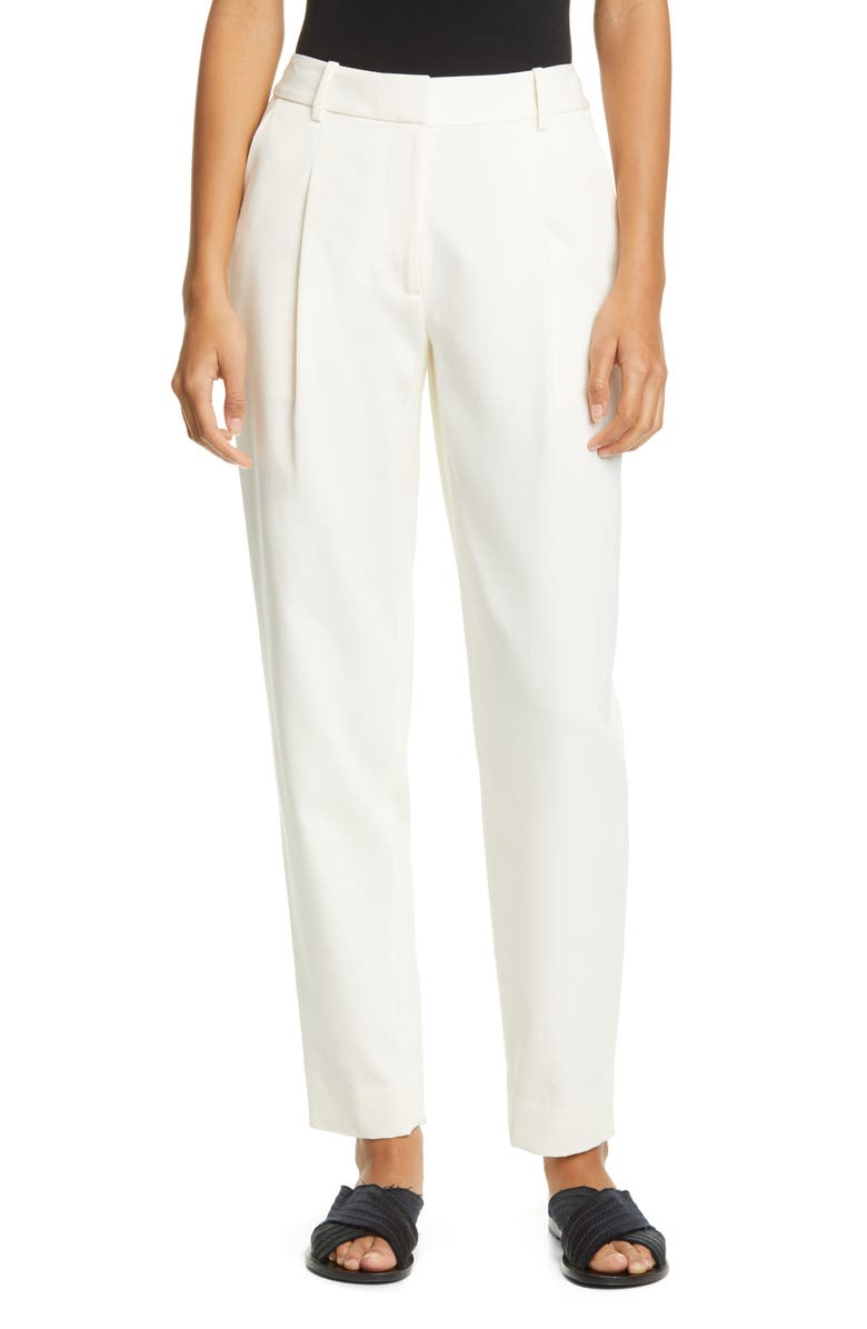 CO Cotton & Wool Crop Trousers, Main, color, IVORY