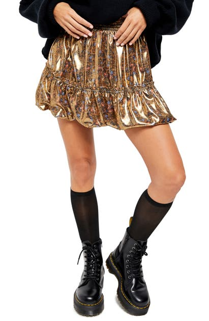 Free People Skirts IN A BUBBLE HIGH WAIST MINISKIRT