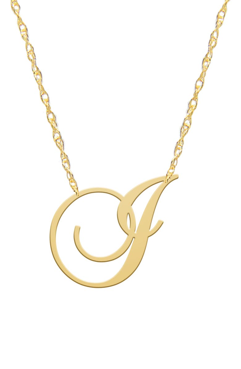 JANE BASCH DESIGNS Swirly Initial Pendant Necklace, Main, color, GOLD-I
