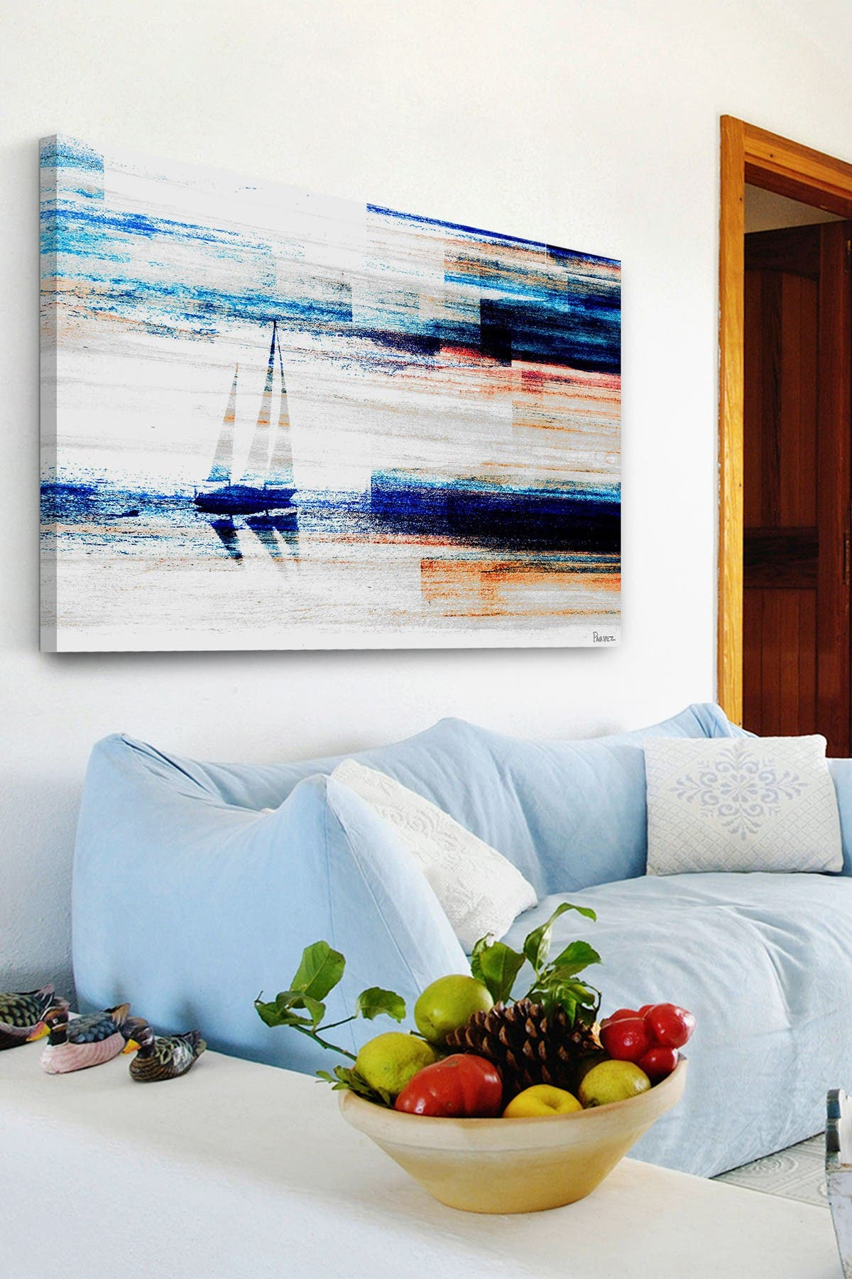 Marmont Hill Inc. Aegean Sea Painting Print on Wrapped Canvas - 12\\\