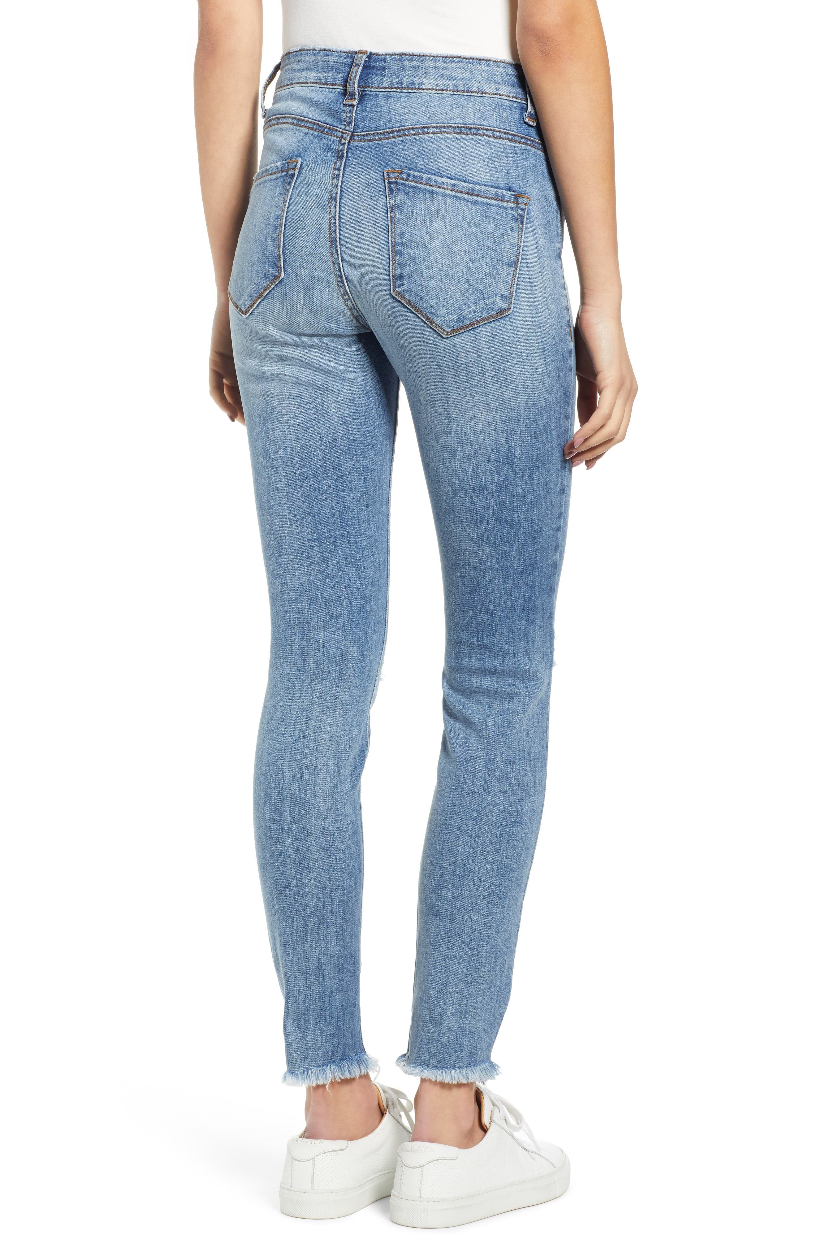 ,                             Emma Ripped High Waist Skinny Jeans,                             Alternate thumbnail 2, color,                             NORTH BROWNSTONE