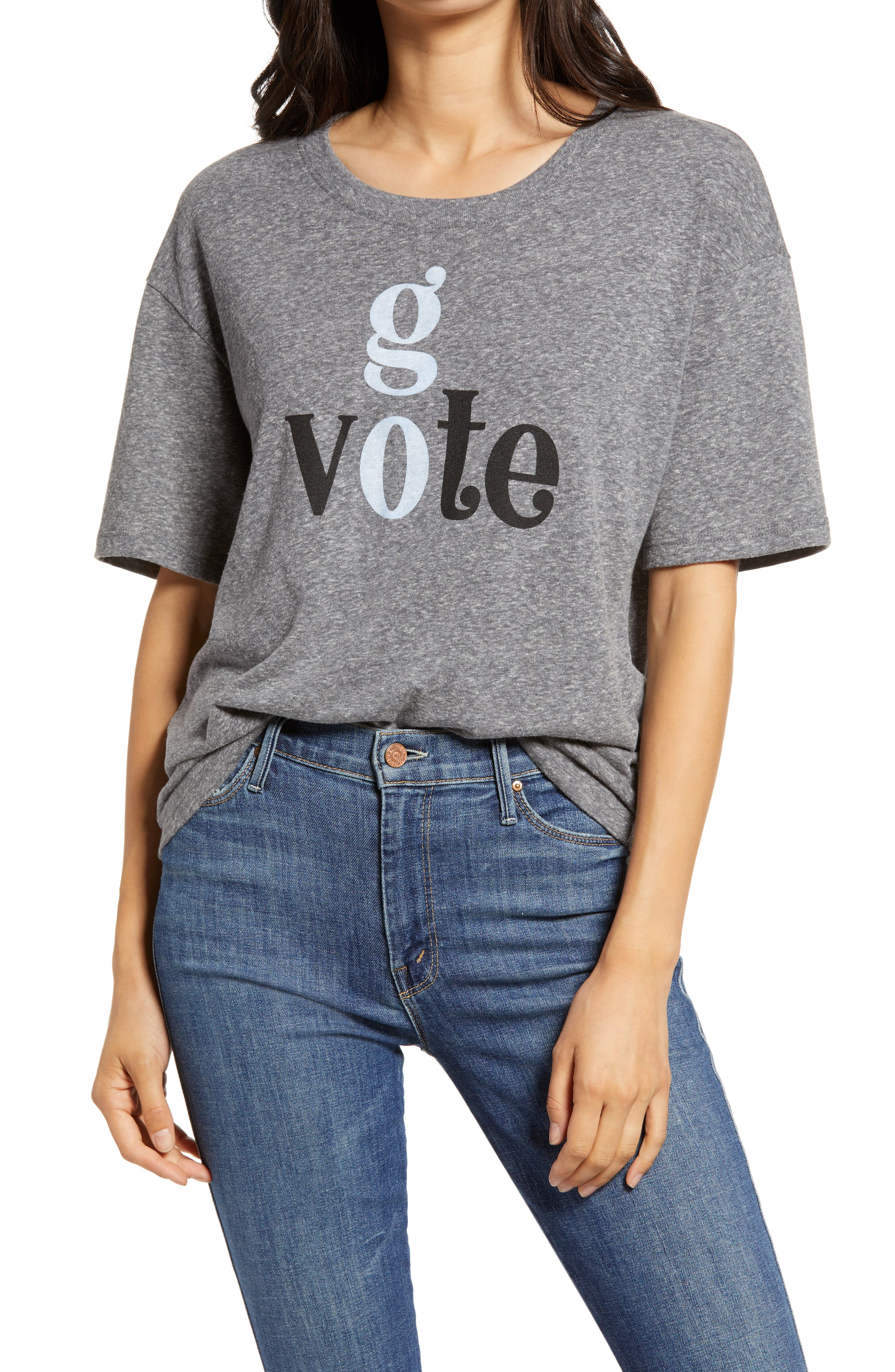 Make Susan B Anthony proud and cast your ballot in this soft heathered tee that encourages you to make your voice heard on November 3rd. When you buy Treasure & Bond, Nordstrom will donate 2.5% of net sales to organizations that work to empower youth. Style Name: Treasure & Bond Vote Collection Go Vote Graphic Tee. Style Number: 6094379. Available in stores.
