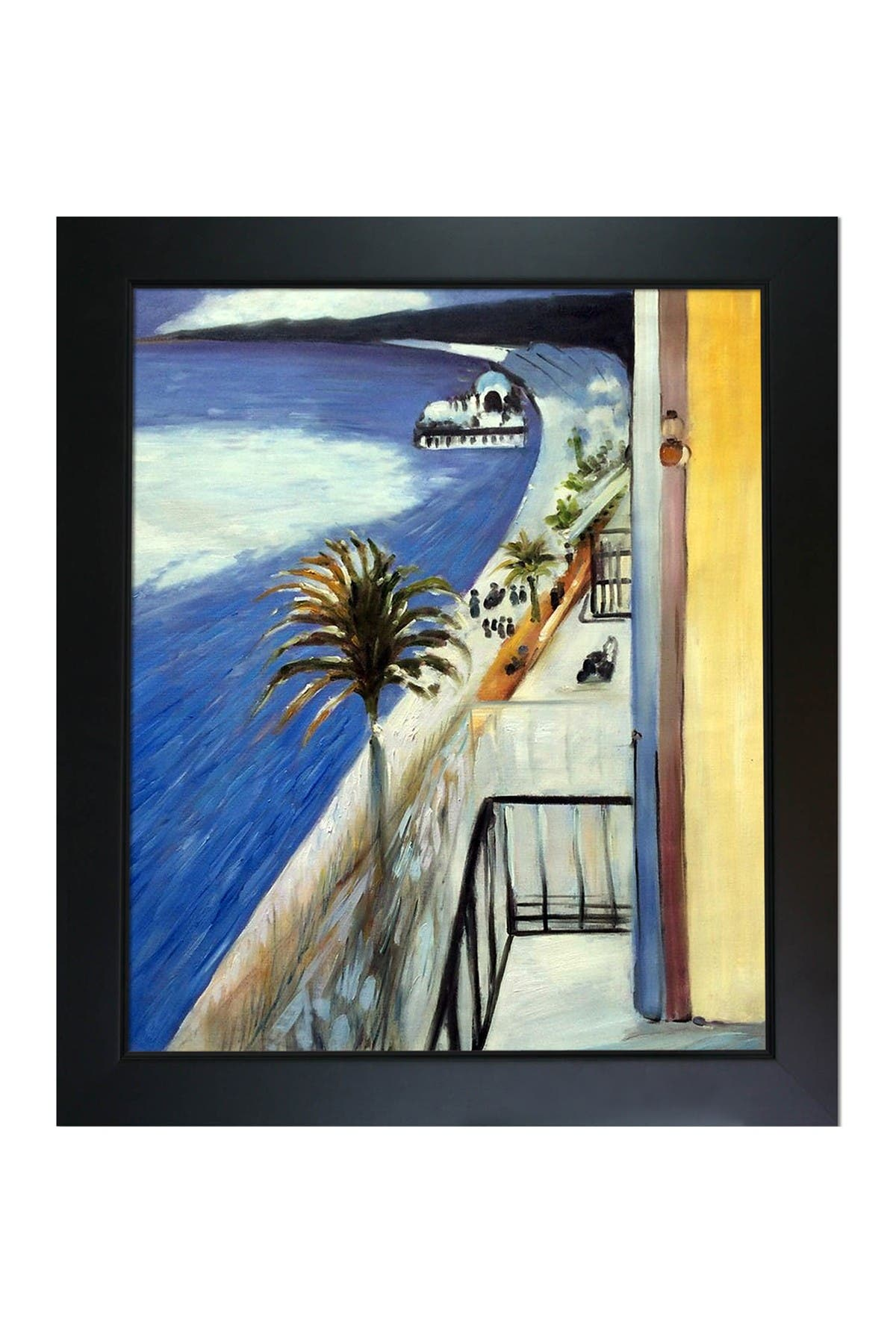 Image of Overstock Art The Bay of Nice, 1918 - Framed Oil Reproduction of an Original Painting by Henri Matisse