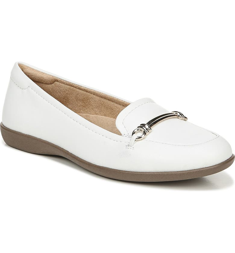 NATURALIZER Florence Loafer, Main, color, WHITE LEATHER