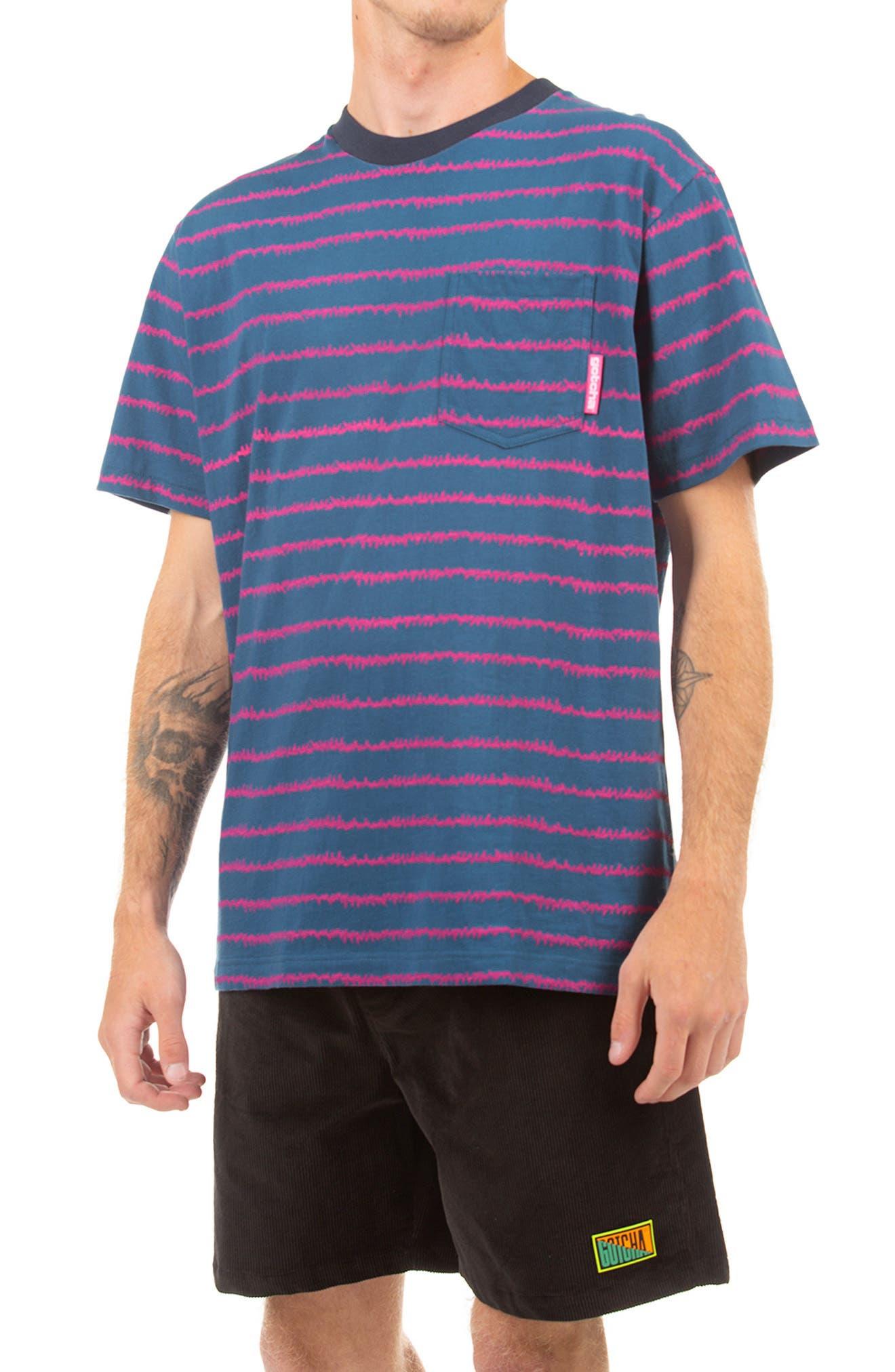EKG Stripe Cotton Pocket T-Shirt
