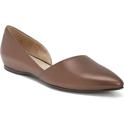 Naturalizer Samantha 2 Flat, Brown