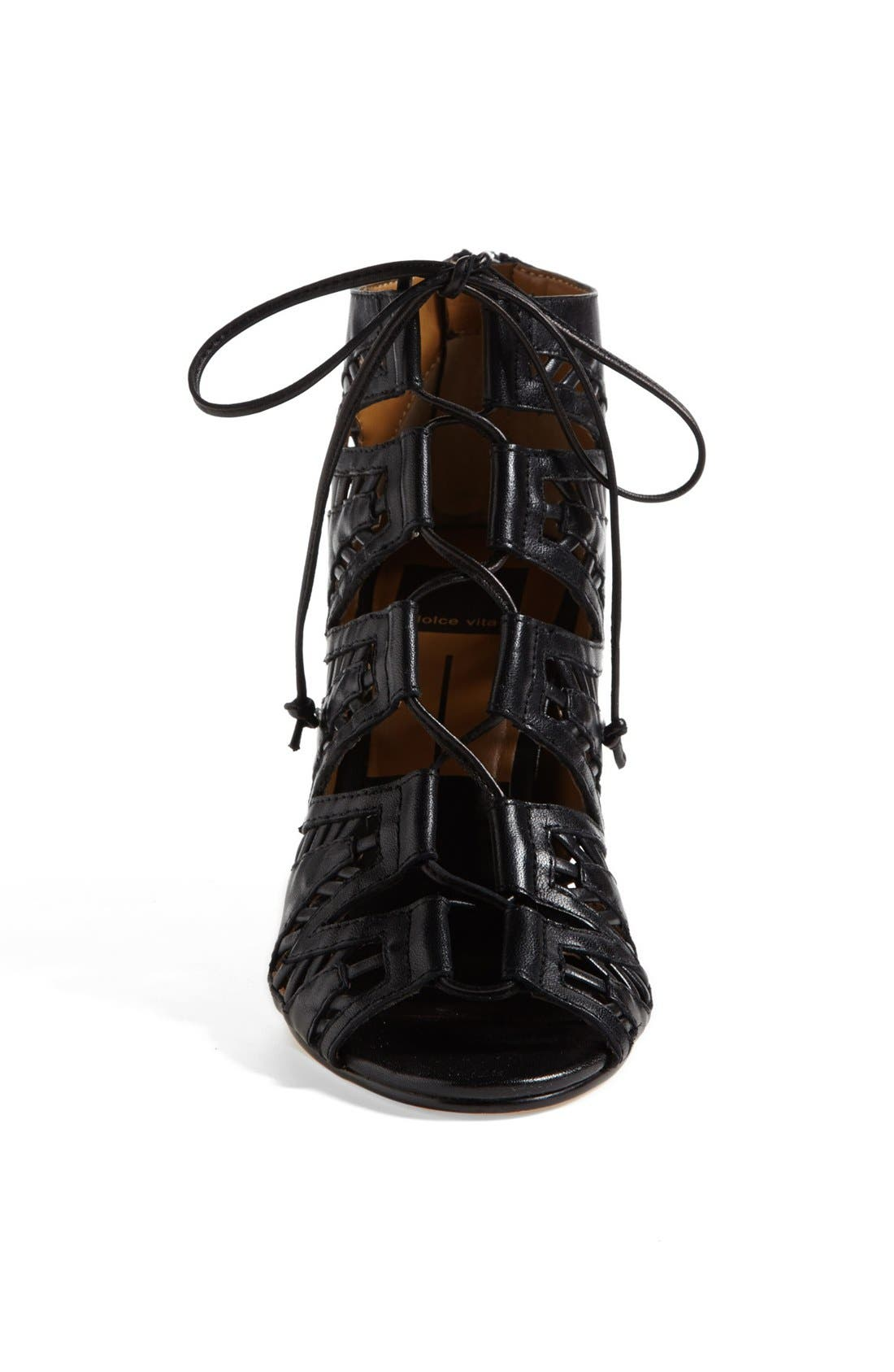 ,                             'Shandy' Cutout Sandal,                             Alternate thumbnail 4, color,                             001