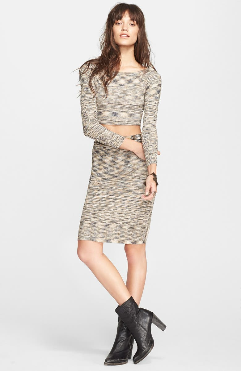 FREE PEOPLE Space Dye Sweater & Skirt Set, Main, color, 237