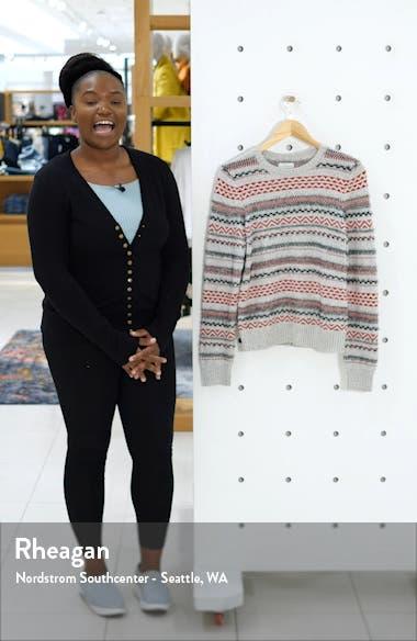 Stripe Fair Isle Cotton & Wool Blend Sweater, sales video thumbnail